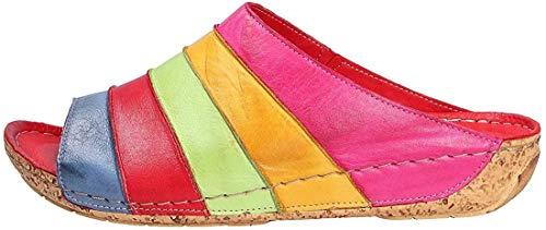 Gemini 032084-02-609 Schuhe Damen Sandalen Pantoletten Clogs, Schuhgröße:38, Farbe:Pink