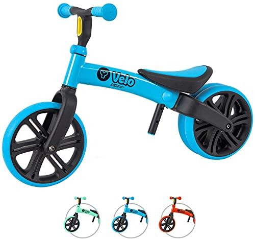 Yvolution Y Velo Junior ペダルなし子供用自転車 キックバイク キッズバイク サドル高さ調整 ジュニア 幼児 トレーニングバイク 対象年齢18ヶ月 1歳 2歳 3歳 4歳 レッド 軽量 組み立て簡単 乗用玩具 誕生日 お正月 クリスマ