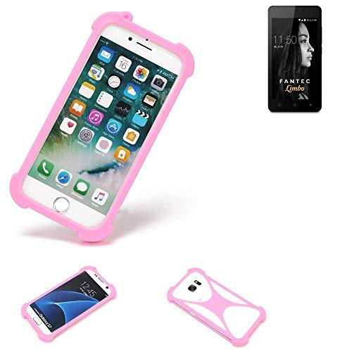 K-S-Trade® Handyhülle Für FANTEC Limbo Schutzhülle Bumper Silikon Schutz Hülle Cover Case Silikoncase Silikonbumper TPU Softcase Smartphone, Pink (1x)