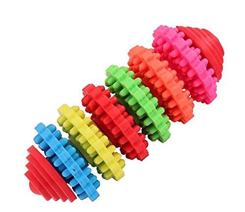 ZBBY Hund Spielzeug HundeSpielzeug Haustier Molar Sechs-Farben-sechs-Ring-Spielzeug TPR Rubber Duft bissfest Molaren Zahn-frei ungiftig