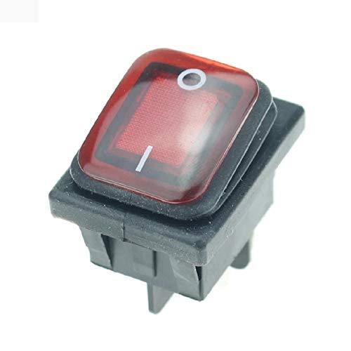 Interruptor bipolar luminoso con fuelle proteción humedad