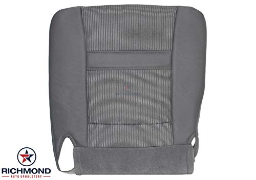 Richmond Auto Upholstery - Driver Side Bottom Replacement Cloth Seat Cover, Gray (Compatible with 2006-2008 Dodge Ram SLT 1500 2500 3500 Laramie Mega-Cab Big-Horn)