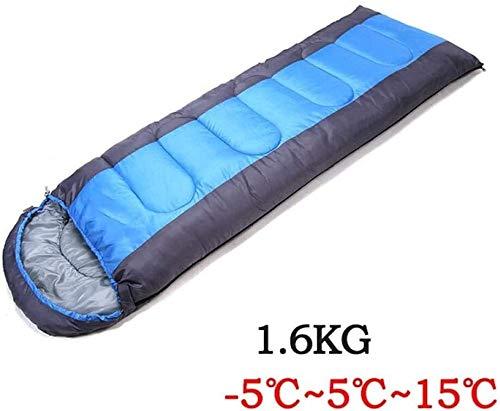 Saco de dormir Impermeable Hilo Engrosamiento de poliéster Apretado termostática de Picnic Familia de Camping (se Puede Coser) Doble Ultraligero (Color : -5~15°C)