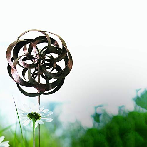 Headwind Garden Splendor 830-1503 Double Whirlwind Wind Spinner with Solar LED Globe Light