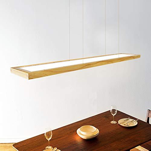ZMH LED Hängeleuchte esstisch Pendelleuchte Holz rustikal dimmbar 38W mit den Fernbedienung pendellampe höhenverstellbar Hängelampe esszimmer, Arbeitszimmer, Wohnzimmer, Küche