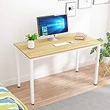 sogesfurniture Schreibtisch Computertisch Büromöbel PC Tisch, 120x60cm Bürotisch Arbeitstisch Esstisch aus Holz und Stahl, Einfache Montage, Helle Eiche BHEU-LD-AC120LO