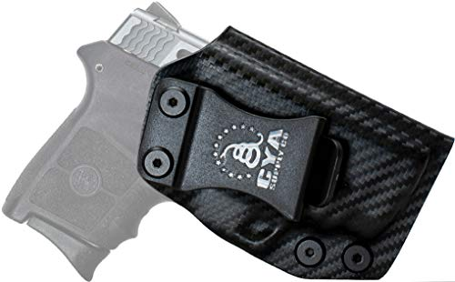 CYA Supply Co. Fits S&W M&P Bodyguard 380 Crimson Trace Inside Waistband Holster Concealed Carry IWB Veteran Owned Company (Carbon Fiber, 043- S&W M&P Bodyguard Crimson Trace)