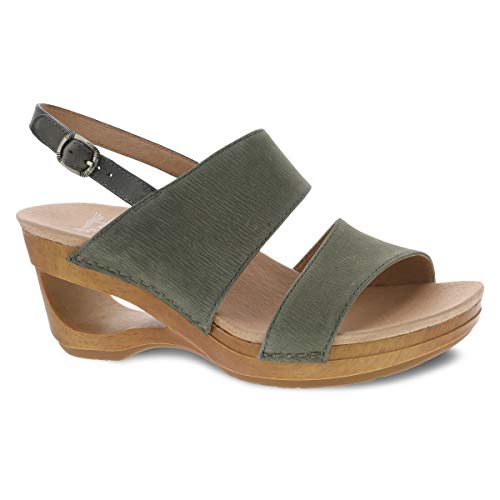 Dansko Women's Tamia Sage Wedge Sandal 9.5-10 M US