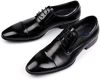 [Agogoo] ビジネスシューズ メンズ 革靴 リーガル 本革 ストレートチップ フォーマルシューズ 靴 レースアップ オールシーズン 通気性 防滑