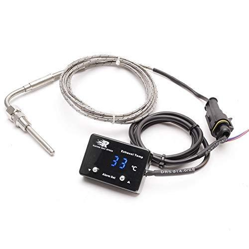 outingStarcase Cola Coche de Gas Digital Display Termómetro con Sensor ETM-P-01 (Azul) Durable (Color: Azul)