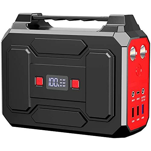Toshaan Powerbank 100 W Estación de energía portátil 99 Wh Generador de energía AC / DC / USB / Tipo-C Salida Coche Camping Noche Terremoto Falla de energía al aire libre Almacenamiento Batería