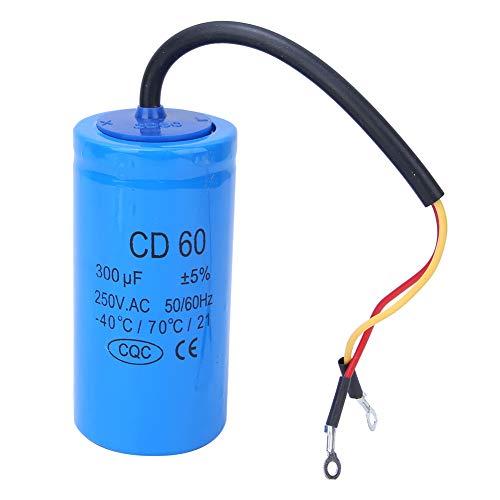 Condensatore, Condensatore motore 250V conveniente ad alte prestazioni per frigoriferi per motori AC per condizionatori d'aria per pompe acqua per generatori