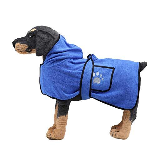 Mikrofaser Hundebademantel, Mikrofaser Hundebademantel Puppy Cat Saugfähiges,...