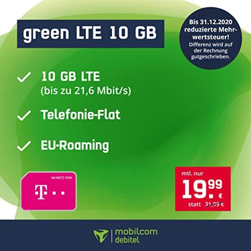 Bester der welt Mobilfunkvertrag Telekomgreen LTE 10 GB – Internet-Apartments, Allnet-Telefonie in allen deutschen Ländern…