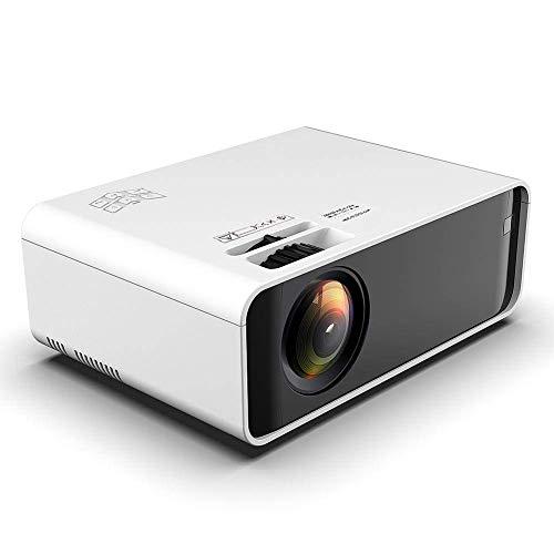 Mini proyector portátil, 1280x720P Resolución física 1500 Brillo HD Los proyectores de Video Soporte Dual USB, HDMI, VGA 3D LCD Home Cinema Proyector Gran Regalo para el hogar (Blanco)