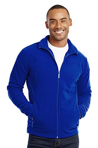 Men's Polar Fleece Zip Up Jacket (L, Royal Blue)