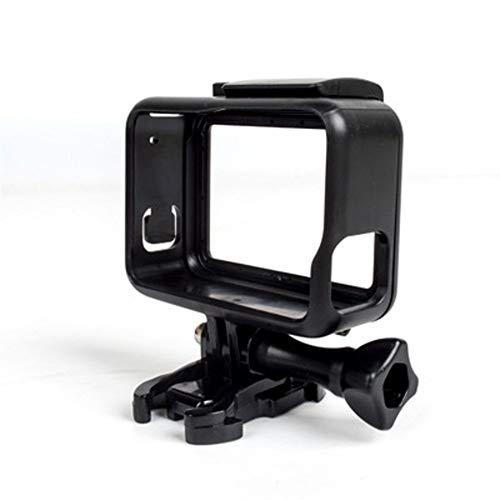 FUQUANDIAN Marco de Acción Protectora de la Caja Accesorios de Montaje de cámara estándar Abierto Shell Protector + Tornillo Solitario + Base for GoPro Hero 5 Negro Accesorios de Soporte