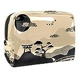 Bolsa de Maquillaje para niños Paisaje de Japón Vintage Accesorio de Viaje Neceser Pequeño Bolsas de Aseo Impermeable Cosmético Organizadores de Viaje 18.5x7.5x13cm