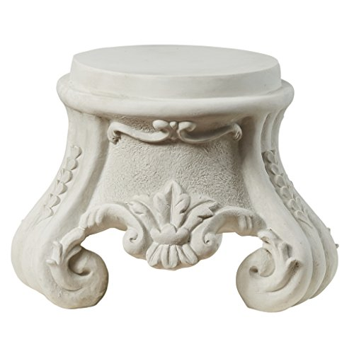 Design Toscano KY0631 Rococo Sculptural Plinth,Faux Stone Finish