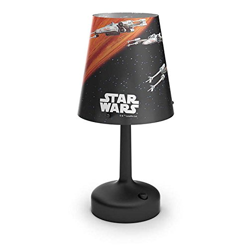 Philips Star Wars Spaceships Lampe de Chevet Portable à Piles LED Plastique Noir 26 x 10 x 10 cm