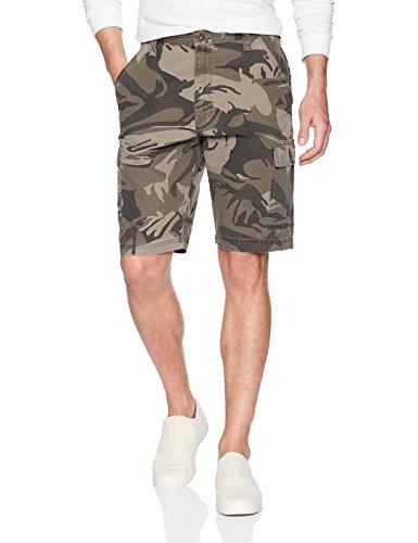 Wrangler Authentics Men's Classic Relaxed Fit Cargo Short, Dark Khaki Camo Ripstop, 40