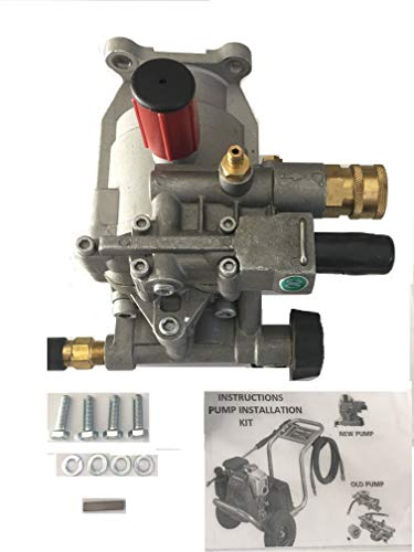 EXCELL DEVILBISS Pressure Washer KIT Replacement Pump A01801, A14292, D28744, Models XR2500 XR2625 XR2600 XC2600 EXHA2425 Radial Pump, Horizontal 7/8 Shaft