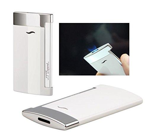 Lifestyle-Ambiente Lifestyle-Ambiente S.T. Dupont Feuerzeug Slim 7 Weiss Flat_Flame inkl Tastingbogen