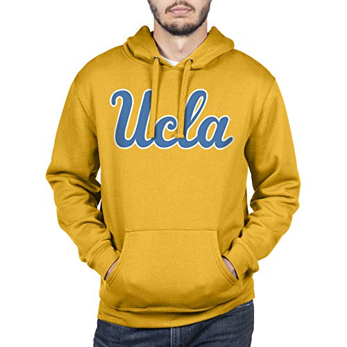 Elite Fan Shop NCAA Herren Kapuzenpullover Team Icon Touchdown, Herren, Hoodie Sweatshirt Team Icon Touchdown, UCLA Bruins Gold, Small