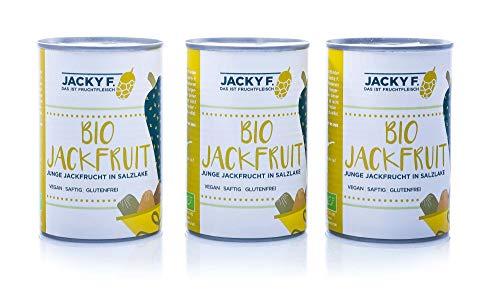 Jacky F. Bio Jackfruit, Junge Jackfrucht in Salzlake, 3er Pack (3 x 400 g Dose)