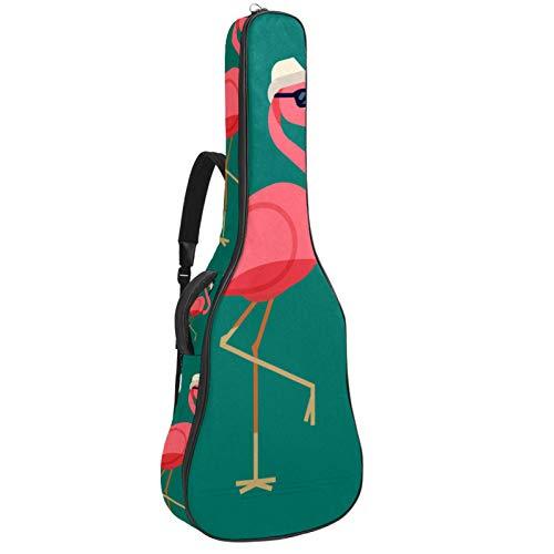 Bolsa de guitarra impermeable con cremallera, suave para guitarra, bajo, acústico y clásico, para guitarra eléctrica, flamenco, desgaste de gafas de sol