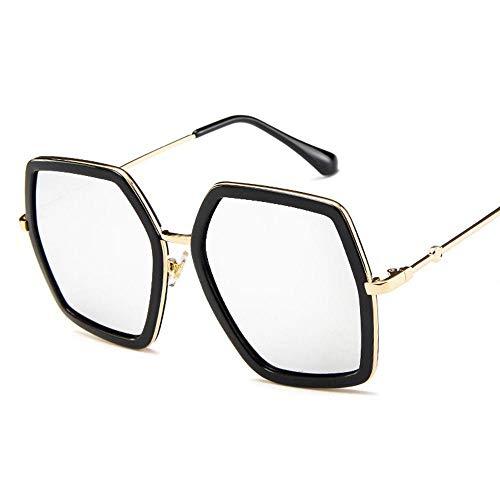 FJCY Gafas de Sol de Diamantes de Gran tamaño de Moda Gafas de Sol de Cristal de Diamantes de imitación con Montura Cuadrada para Mujer Gafas de Sol Retro de Lujo Gafas de Sol Uv400-Laf6315-C9