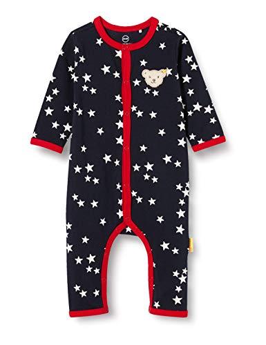 Steiff Baby-Mädchen mit süßer Teddybärapplikation Strampler, Navy, 074