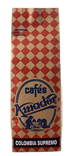 Cafés AMADOR - Café en GRANO Natural Arábica - COLOMBIA HUILA SUPREMO (2x250g) 500g