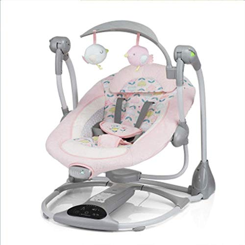 QIYUE Baby-Elektro-Schaukelstuhl, vibrierende Bequeme Cradle Bett, Play Music Dual Power Drive Elektroschaukelstuhl, Sitz Lengthening 80cm Baby-Wiege Wiege