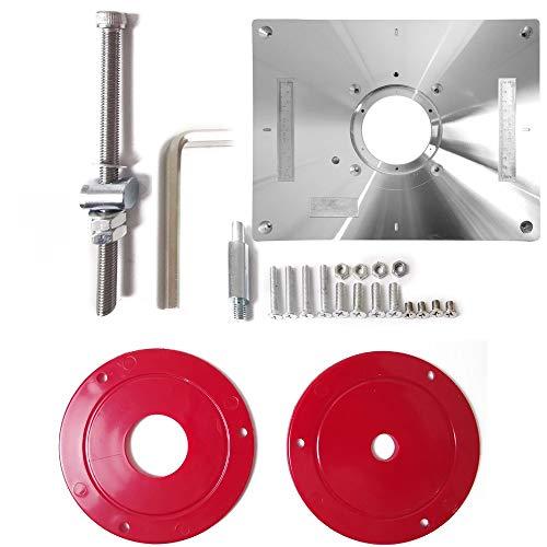 Herramientas de carpintería Herramienta de máquina de grabado del condensador de ajuste multifuncional de aleación de aluminio de la carpintería Router banco del vector Plate de Inserción