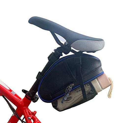 1 unids Bolsas de Almacenamiento de Bicicletas Impermeable Bolsa Bajo Asiento para Pequeños Accesorios de Ciclismo, Tubo de Repuesto y Kit de Reparación de Neumáticos, C