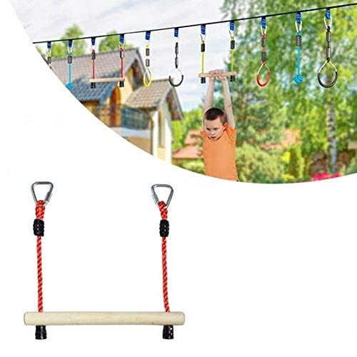 Monkey Bars, Trapeze Swing Bars Ninja Line Monkey Bars Ninja Obstacle Monkey Bars Outdoor Swing Monkey Bar Obstacle Course for Training Equipment Slack Lines Ninja Line Accessories Kids Youth