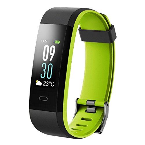 Karseen KA0682838581212 Armband mit Pulsmesser,Wasserdicht IP68 Fitness Aktivity tracker Pulsuhren Smart ArmbandUhr Schrittz Grün, H1, H2, H3, H4, H5