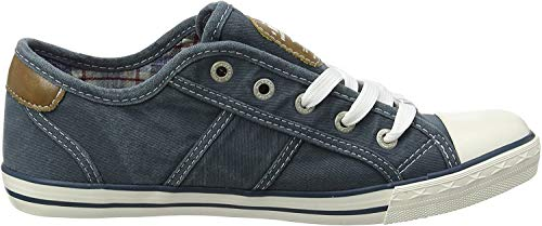 MUSTANG Damen 1099-302-87 Sneaker, Blau Blau Grün, 40 EU