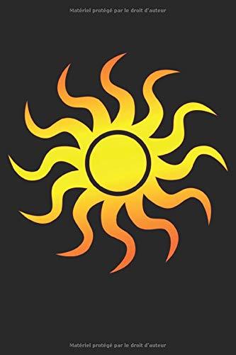 Illustration du soleil simple: Carnet de cadeaux simple symbole soleil pointillé grille (format A5, 15,24 x 22,86 cm, 120 pages)