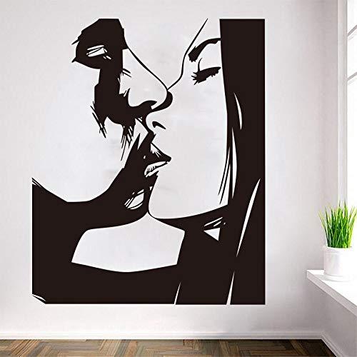 wZUN Decoración de Pared Hombres y Mujeres Pegatinas de Pared Hombres y Mujeres patrón de Besos imágenes de Belleza Sexy Pegatinas de Pared de Vinilo 87X108cm