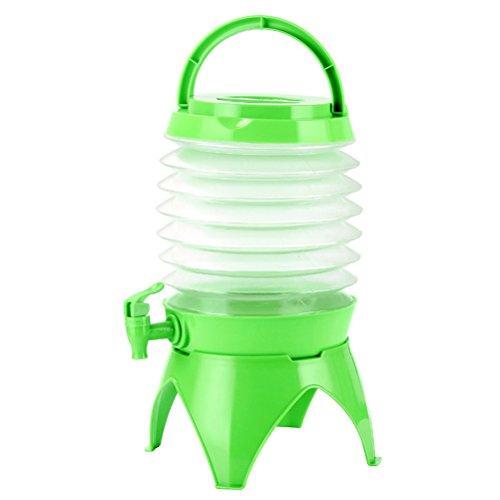 WINOMO Bidon à eau Distributeur d'eau pliable avec robinet portable, Distributeur de boisson pliable en plastique pour limonades pour Voyage Outdoor Camping 5L