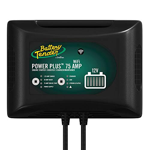 Price comparison product image Battery Tender 75 Amp Engine Start Battery Charger: 12V,  20 AMP Booster,  Car Battery Jump Starter,  Booster,  and Charger and Maintainer with Power Supply and Integrated Wi-Fi - 022-0227-DL-WH