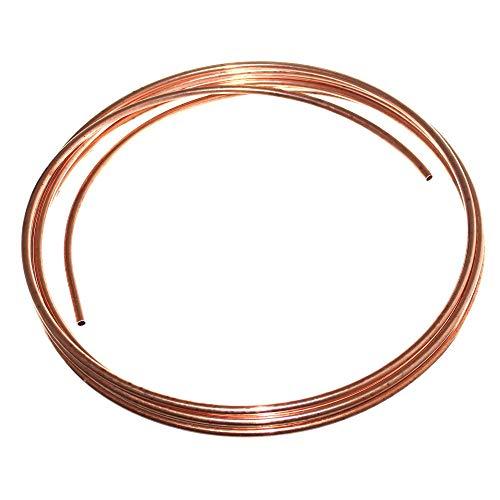 (6€/m) 5m Rolle Ø 8mm Hydraulikleitung Innen-Ø 5mm Kupferleitung Bremsleitung Kupferrohr Cu Leitung Neu Old-Harvest