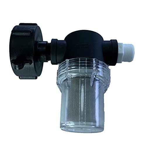 SM SunniMix Adaptador de Grifo de Agua Universal Duradero, Filtro de Manguera de jardín, Accesorio de Filtro de sedimentos, Pantalla de Malla 40, Adaptador de - Alambre Exterior de 25 mm