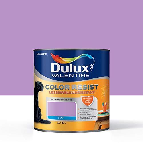 Peinture Color Resist Dulux Valentine - Lessivable et resistante pour Murs & Boiseries - aspect Mat...