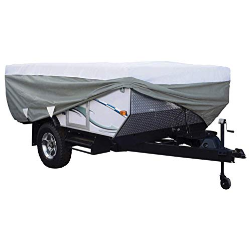 Classic Accessories Over Drive PolyPRO3 Deluxe Pop-Up Camper Trailer Cover, Fits 10' - 12' Trailers (80-039-153106-00)
