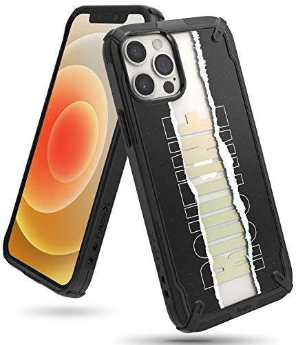 Ringke Fusion-X Design Case Compatible with iPhone 12, Compatible with iPhone 12 Pro, UV Mold Printed Hard PC Back Shockproof TPU Bumper Cover for 6.1-inch (2020) - Routine