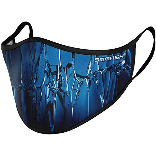SMMASH Mundschutz Maske Wiederverwendbar, Hochwertiges Gesichtsmaske Waschbar, Multifunktional Trainingsmaske für Radfahren, Laufen, Staubschutzmaske für Damen, Herren, Größe S/M.