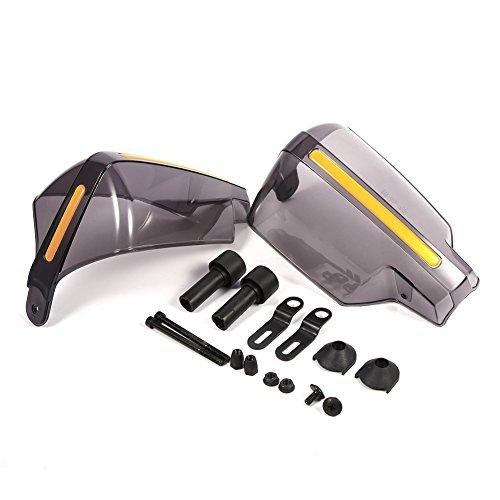Yctze Protectores de manillar 1 par de protectores de mano de motocicleta universales protectores de mano con patrón de humo